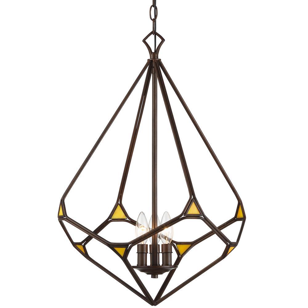 Varaluz gemma stone 3 light rustic bronze teardrop pendant with varaluz gemma stone 3 light rustic bronze teardrop pendant with yellow art glass aloadofball Images