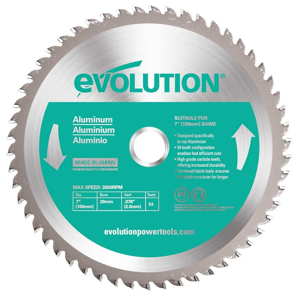 Evolution Power Tools 7 in. 54-Teeth Aluminum Cutting Saw Blade ...