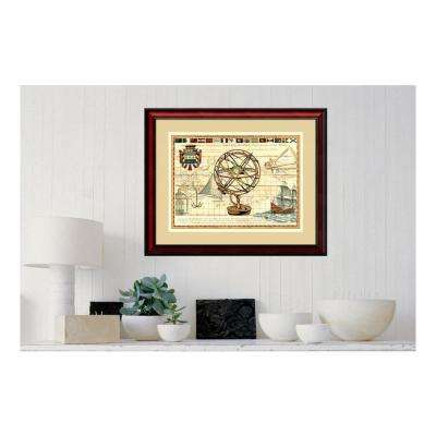 31 in. W x 26 in. H 'Nautical Map I' by Deborah Bookman Printed Framed Wall Art