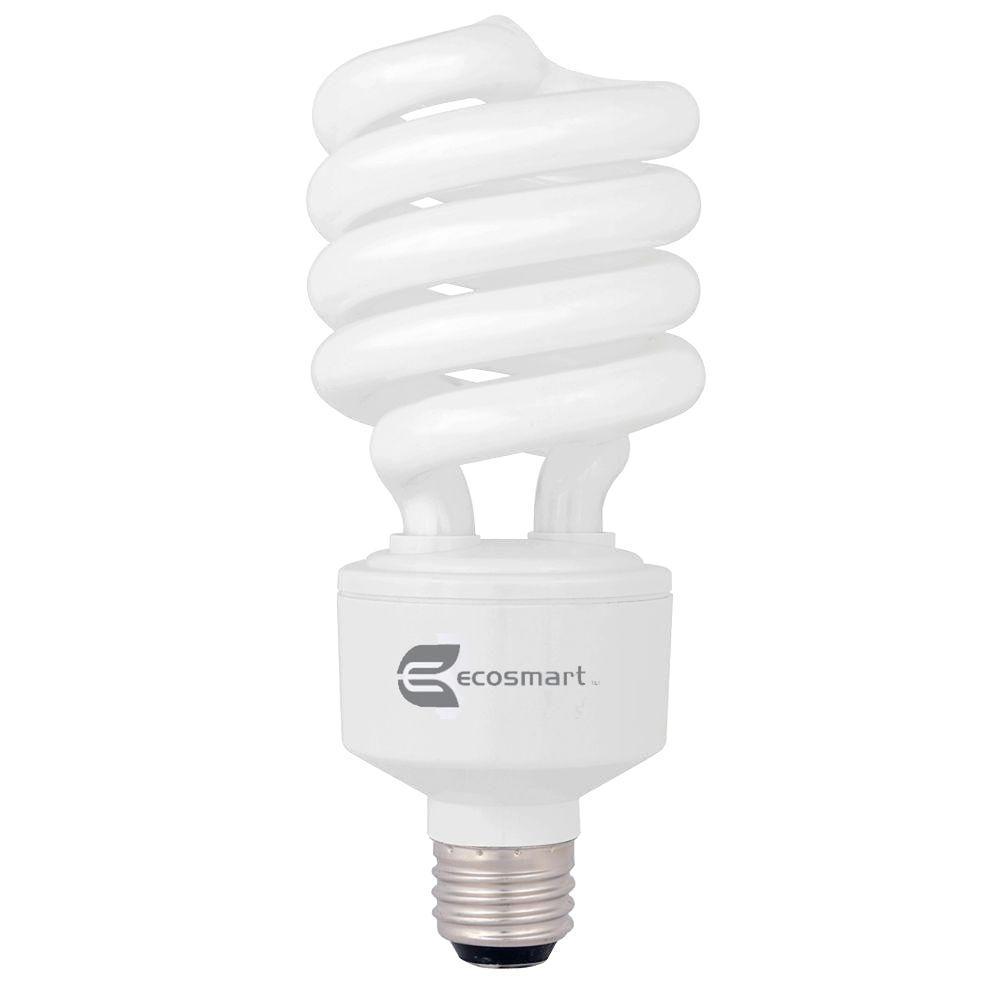 150W Equivalent Soft White  Spiral CFL Light Bulb (2-Pack)