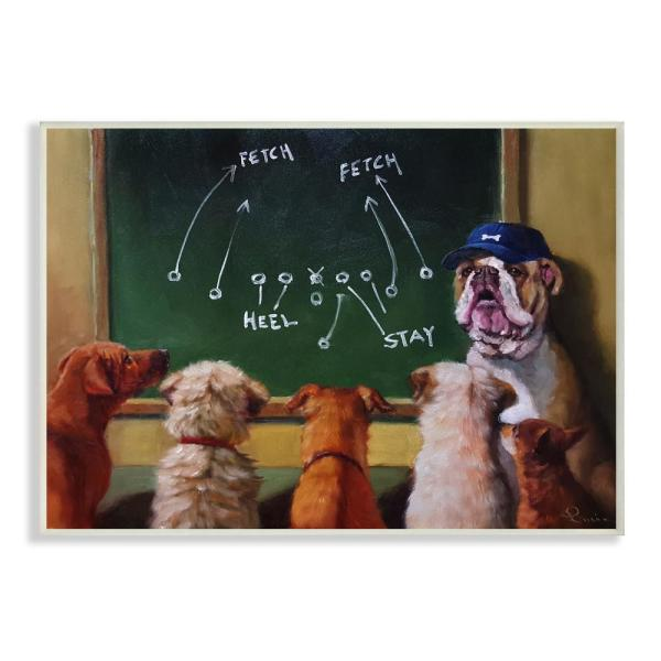 The Stupell Home Decor Collection 125 In X 185 Dog Football Team