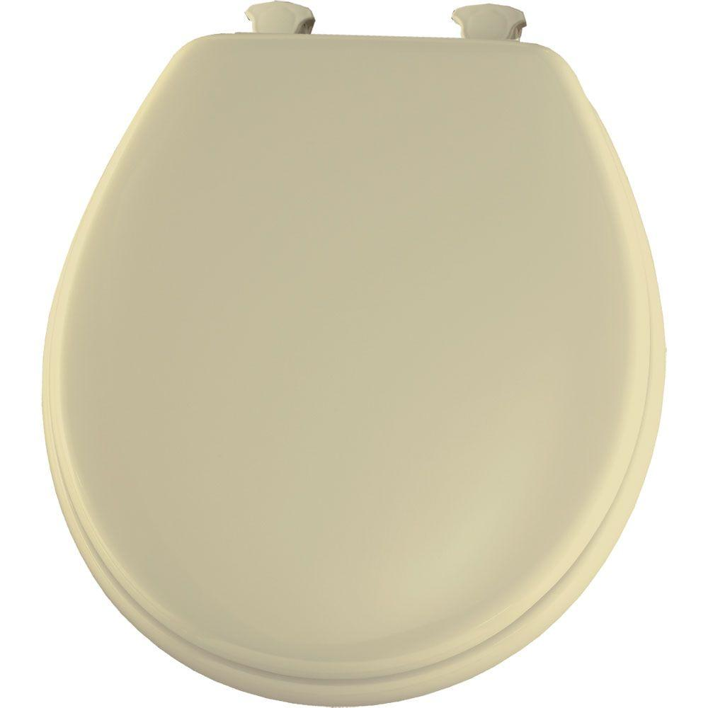 BEMIS Lift-Off Round Closed Front Toilet Seat in Bone