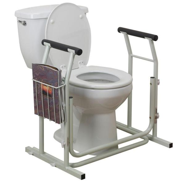 Drive Medical Stand Alone Toilet Safety Rail Rtl12079 The Home Depot