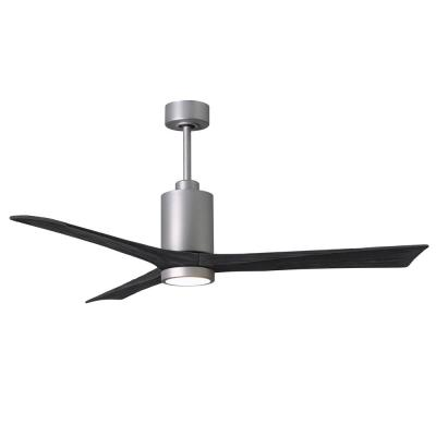 Patricia-3 60 in. Integrated LED Brushed Nickel Ceiling Fan with Light Kit