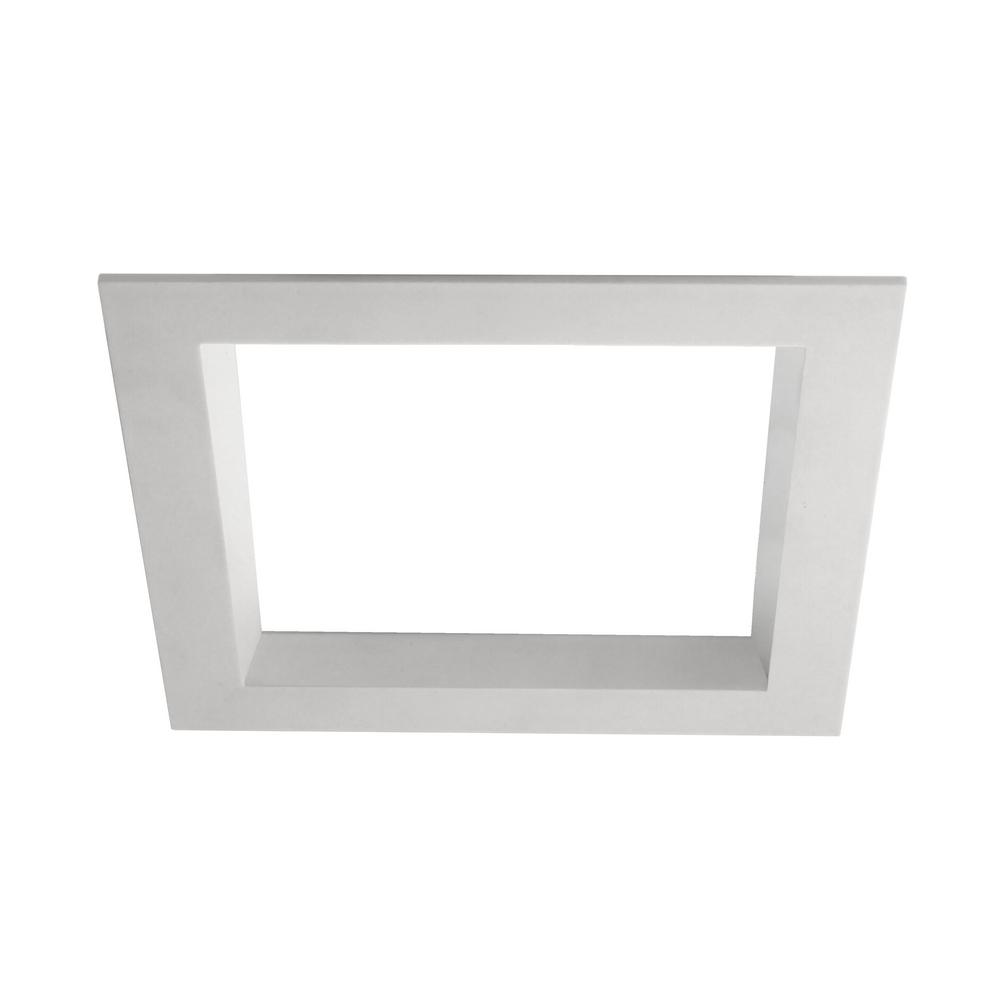 nicor 5 in square white integrated led recessed downlight kit in