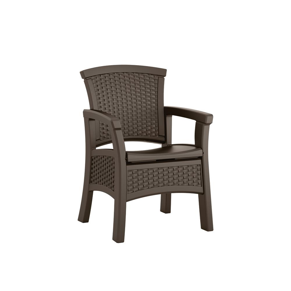 Amazing Suncast Elements Stationary Resin Outdoor Dining Chair With Storage Download Free Architecture Designs Rallybritishbridgeorg