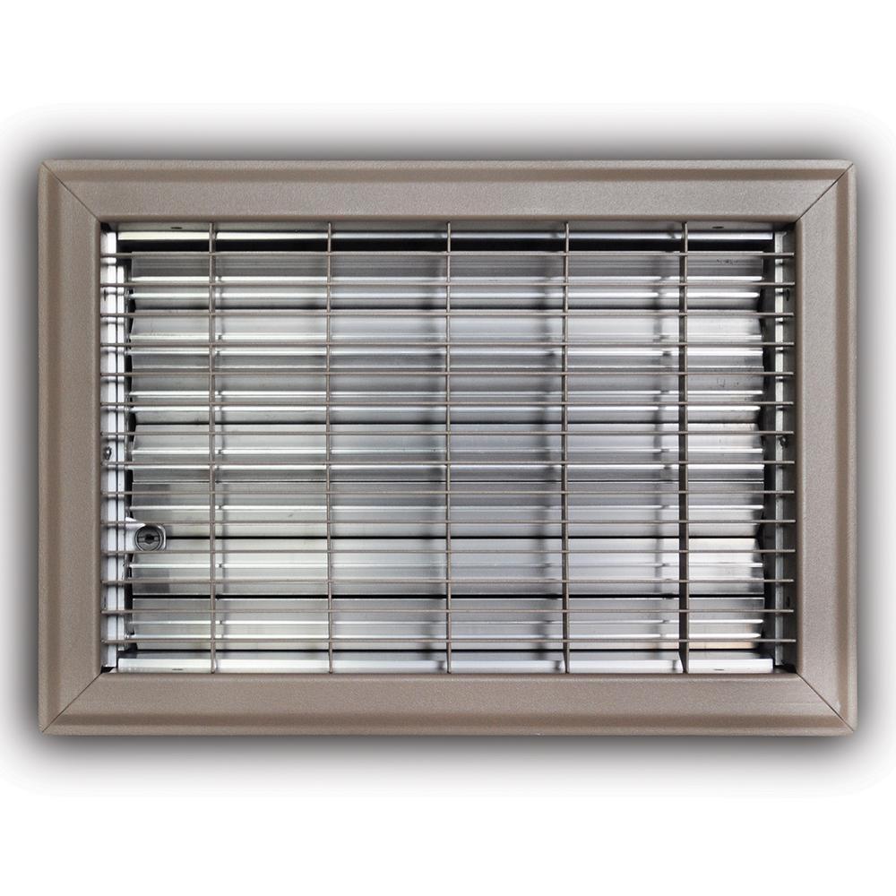 TruAire 15 in  Steel Brown Baseboard Diffuser Supply-115SB