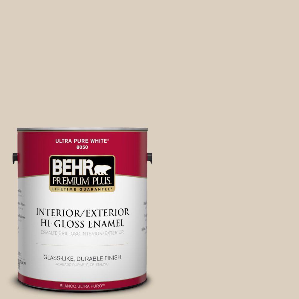 BEHR Premium Plus 1-gal. #BWC-25 Sandy Clay Hi-Gloss Enamel Interior/Exterior Paint