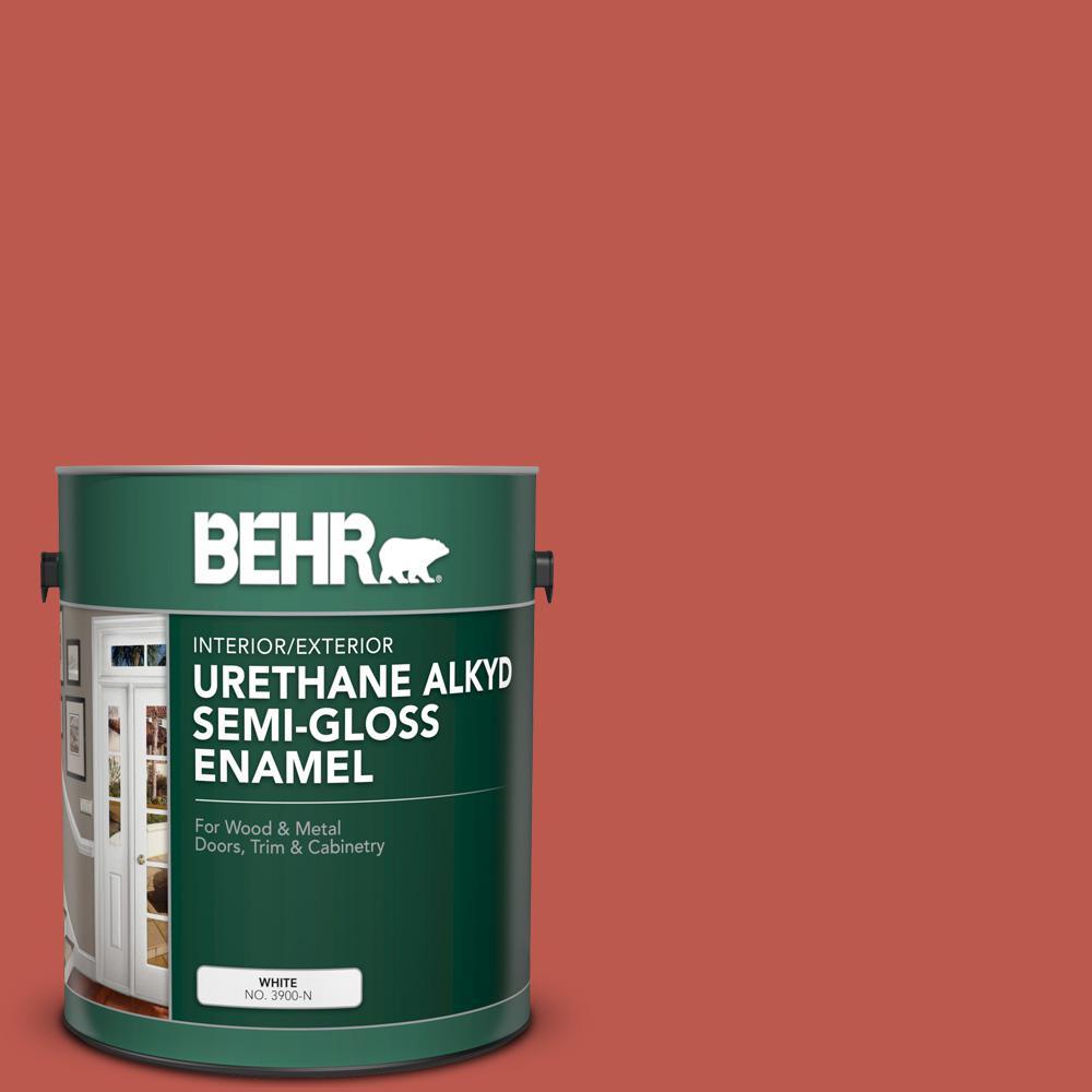 BEHR 1 gal. #M170-7 Tandoori Urethane Alkyd Semi-Gloss Enamel Interior/Exterior Paint
