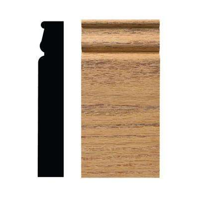 1-1/16 in. x 3-1/4 in. x 6-1/2 in. Red Oak Colonial Plinth Block