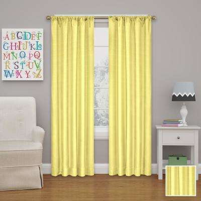 Kendall 95 in. L Lemon Rod Pocket Curtain