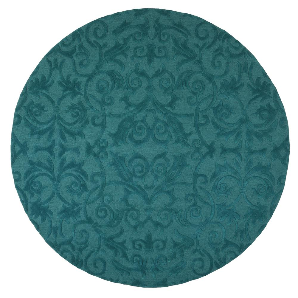 home decorators collection bella teal 7 ft 9 in round area rug 9433350330 the home depot. Black Bedroom Furniture Sets. Home Design Ideas