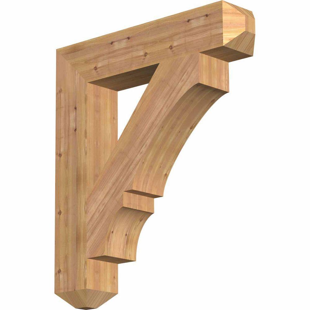 Ekena Millwork 5.5 in. x 34 in. x 30 in. Western Red Cedar Balboa Craftsman Smooth Bracket