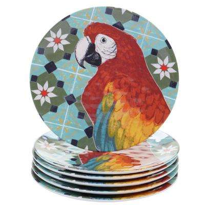 Paradise Multicolor Salad Plate (Set of 6)