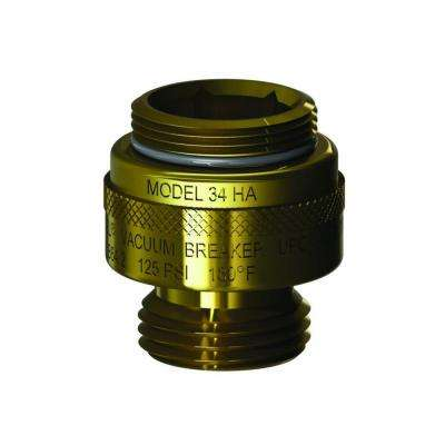 1-1/8 in. - 18 Special Threads x 3/4 in. Hose Threads Brass Single-Check Vacuum Breaker