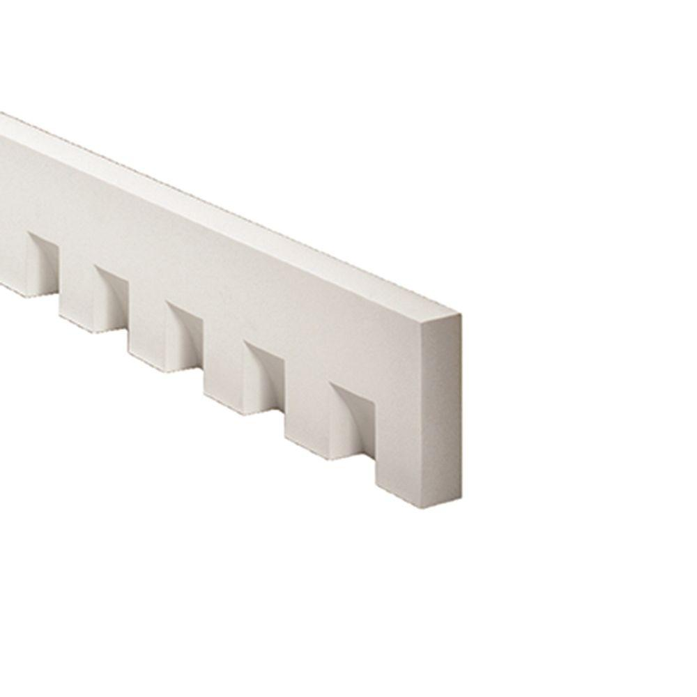 Fypon 1 5 8 in x 5 3 4 in x 96 in polyurethane dentil for Fypon trim