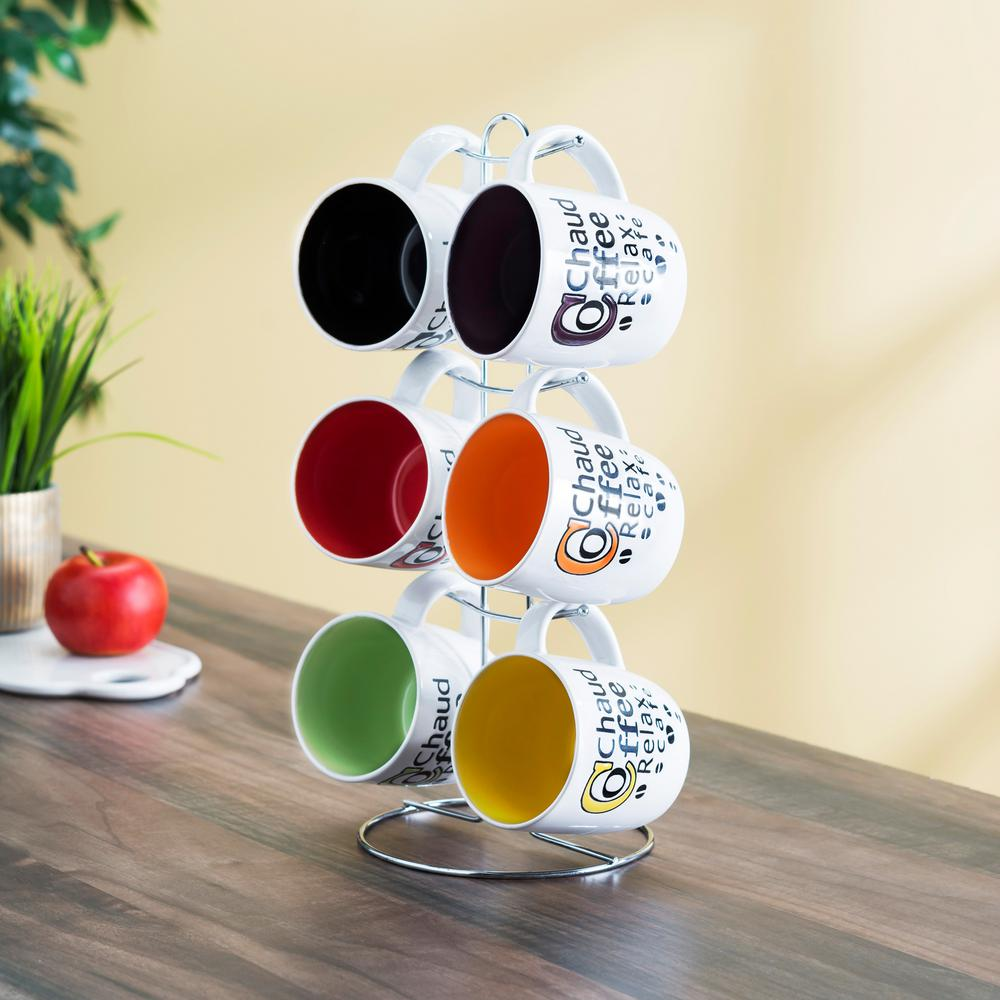 6-Piece Coffee Mug with Stand