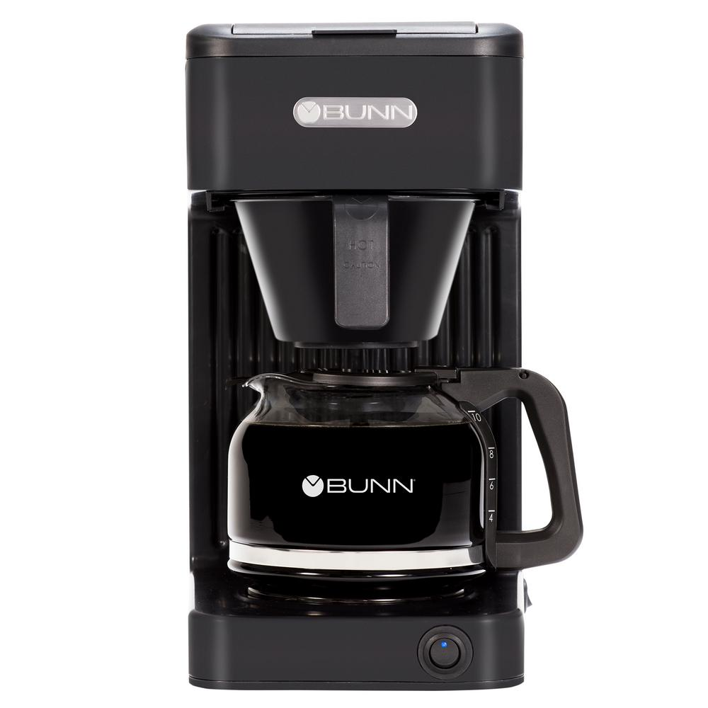 Speed Brew Select Black 10-Cup Coffee Maker The Fastest Home Coffee Makers in America, now with an updated design. Speed Brew Coffee Makers can brew 10-cups of coffee in about 4 minutes because they store hot water in a Stainless Steel Commercial Grade tank allowing them to brew coffee on demand. They're always on your counter, always plugged in and always ready to brew the perfect cup of coffee. Color: Black.
