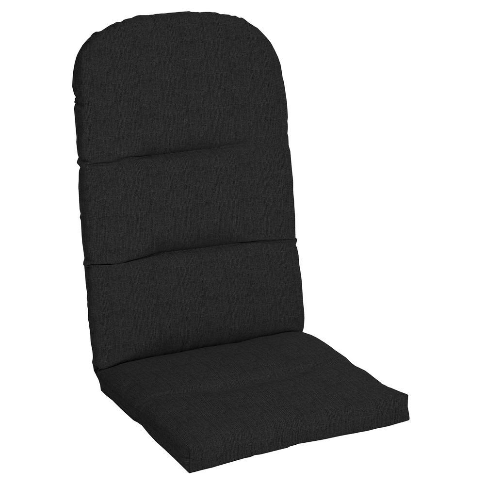 20.5 x 49 Sunbrella Canvas Black Outdoor Adirondack Chair Cushion