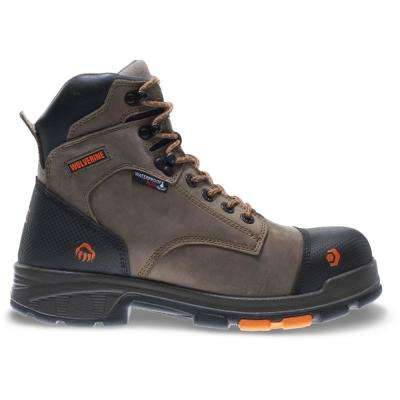 "Men's Blade LX 10M Brown Full-Grain Leather Waterproof Composite Toe 6"" Boot"