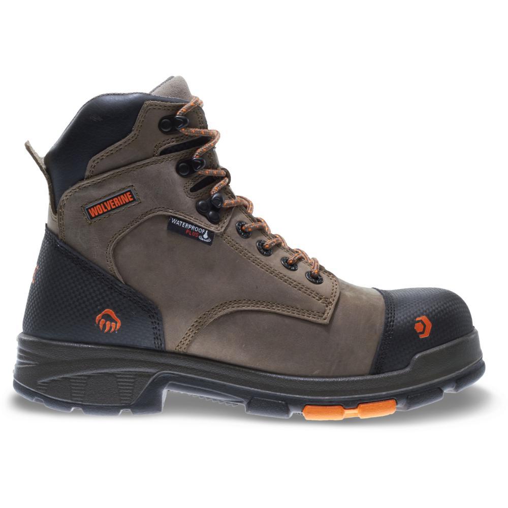 "Men's Blade LX 11M Brown Full-Grain Leather Waterproof Composite Toe 6"" Boot"