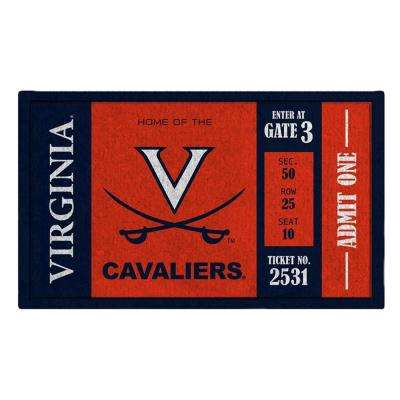 University of Virginia 30 in. x 18 in. Vinyl Indoor/Outdoor Turf Floor Mat