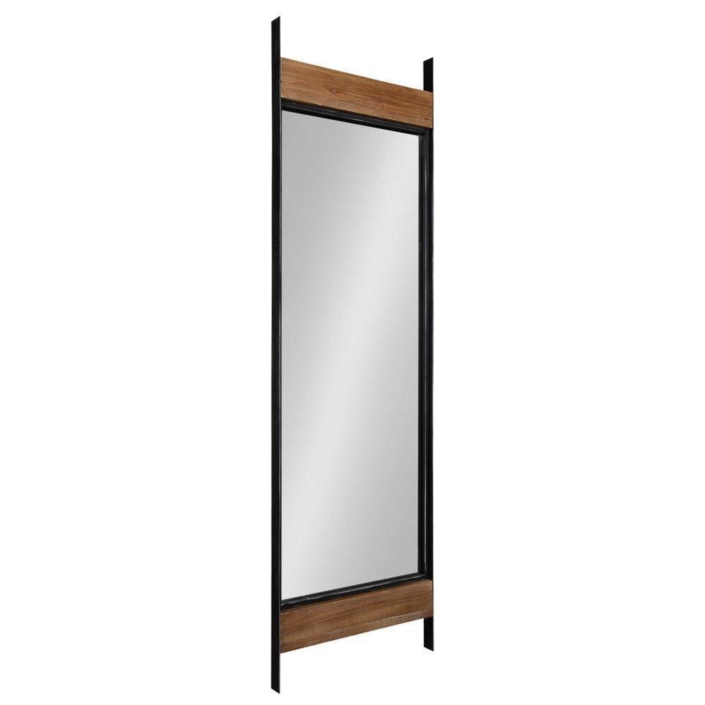 Oversized Rustic Brown/Black Metal Rustic Farmhouse Mirror (63 in. H X 19 in. W)