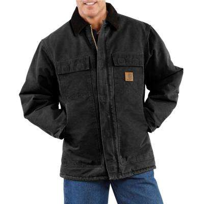 Men's Extra-Large Black Cotton AQL Sandstone Traditional Coat