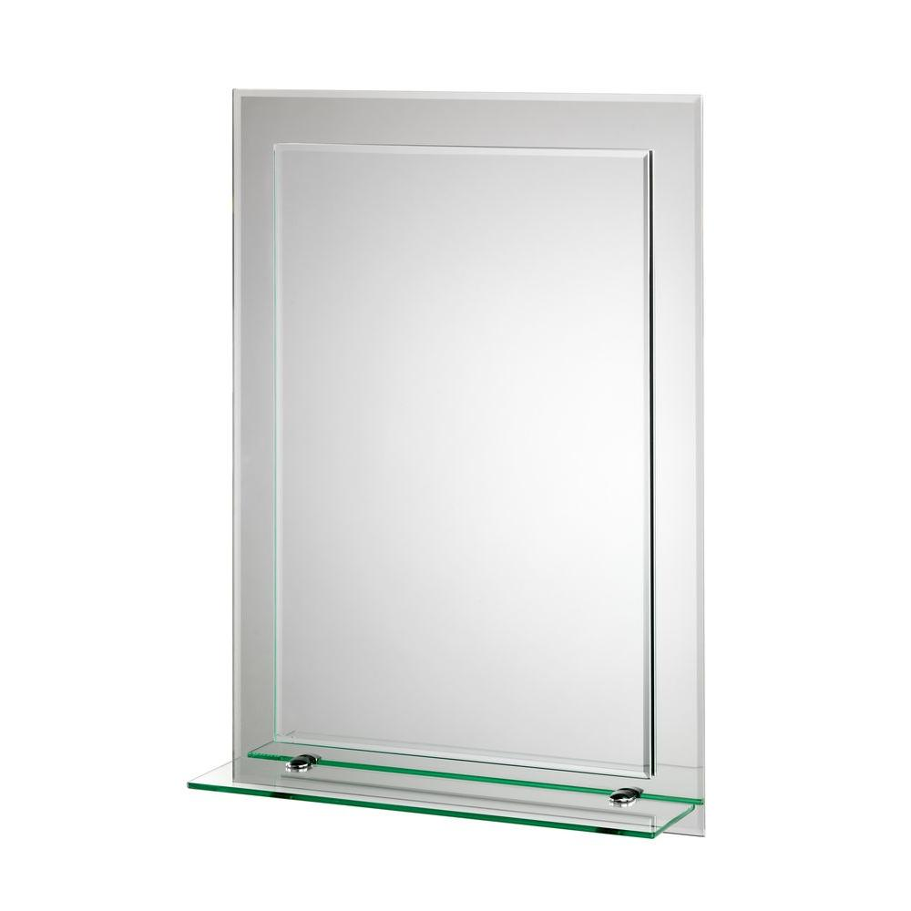 Croydex 20 In X 28 In Devoke Beveled Edge Double Layer Wall Mirror With Shelf And Hang 39 N