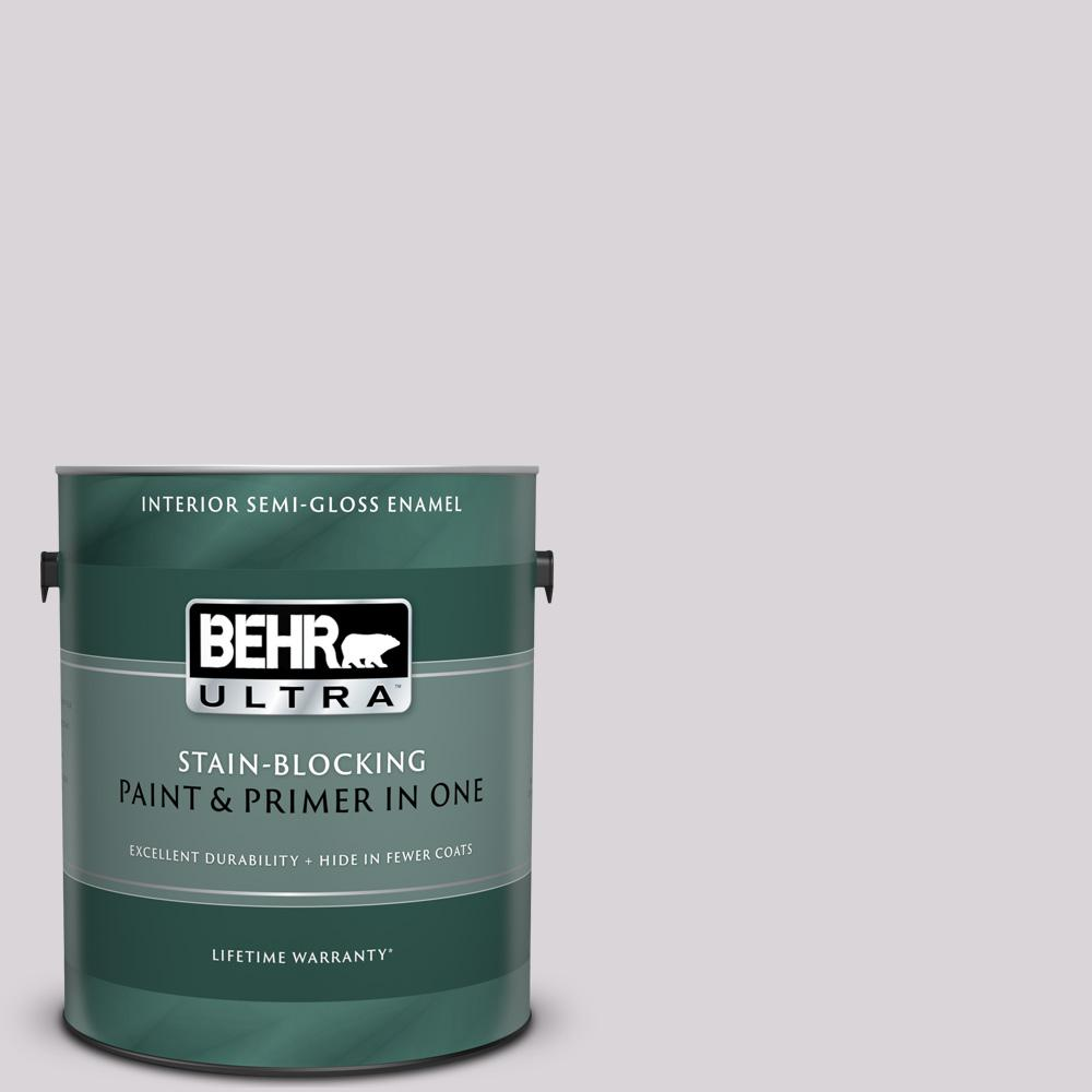 Behr Ultra 1 Gal Mq3 29 So Shy Semi Gloss Enamel Interior Paint And Primer In One 375001 The Home Depot