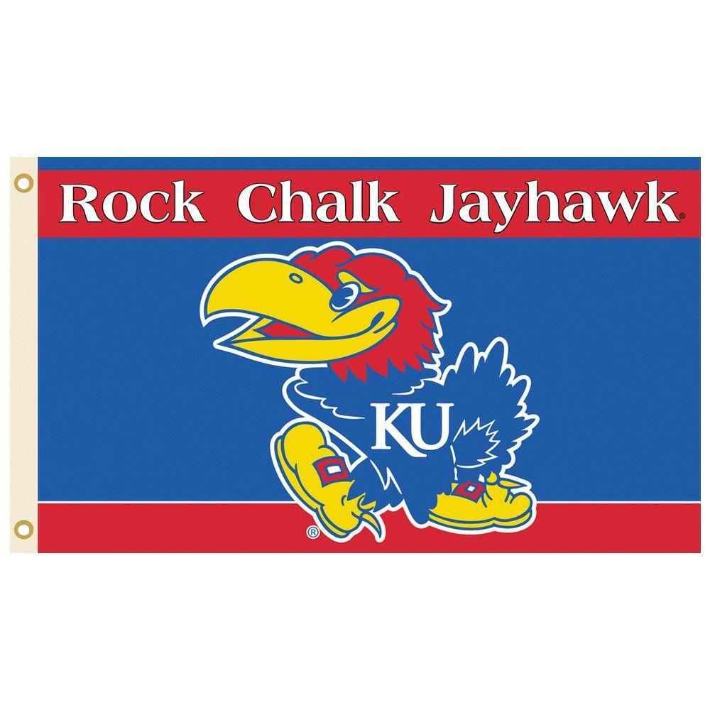 NCAA 3 ft. x 5 ft. Kansas Flag