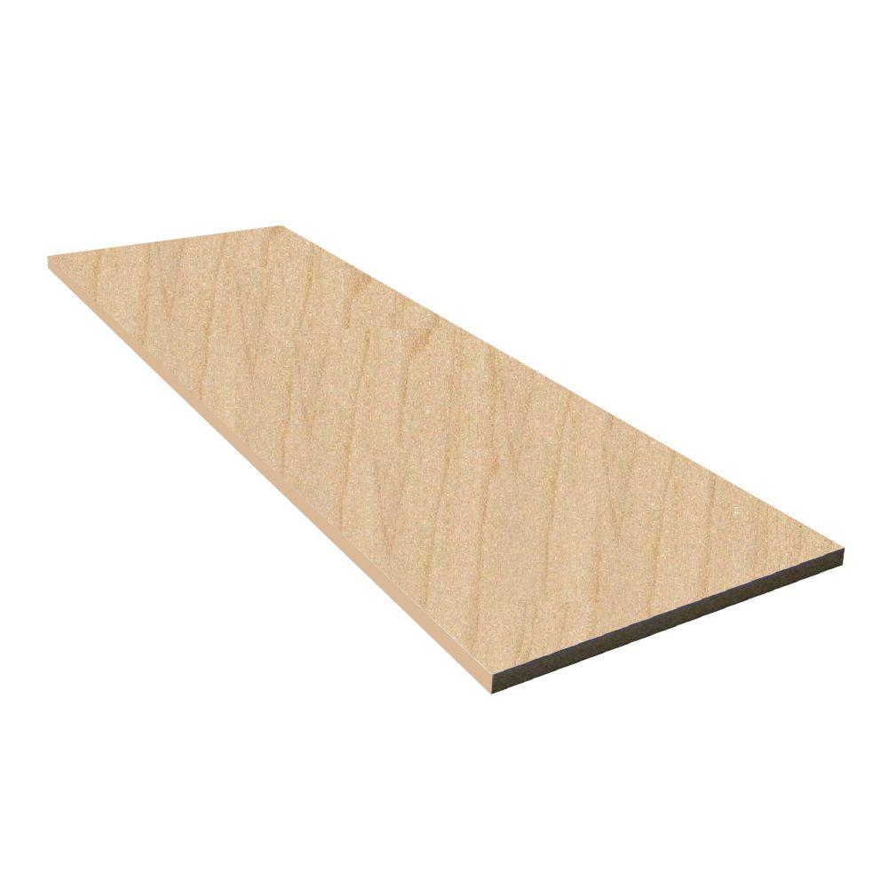 5/8 in. x 12 in. x 4 ft. Maple Melamine Board