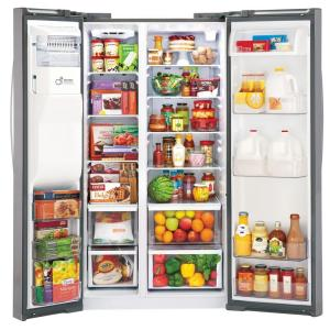 26.16 cu. ft. Side by Side Refrigerator in Stainless Steel