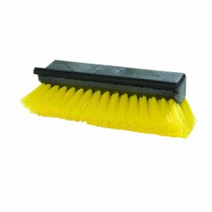 Carlisle 10 inch Yellow Scrub Brush with Squeegee (Case of 12) by Carlisle
