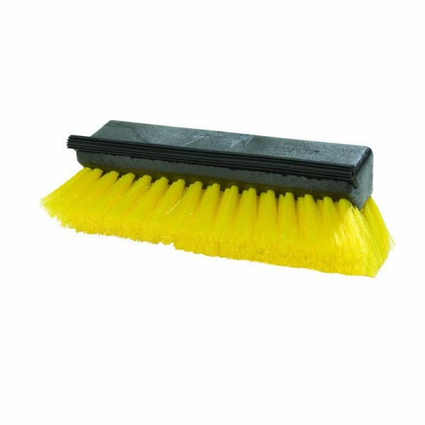 10 in. Yellow Scrub Brush with Squeegee (Case of 12)