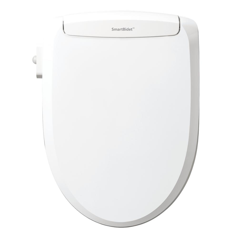 Pleasant Smartbidet Electric Bidet Seat For Elongated Toilets With Remote In White Alphanode Cool Chair Designs And Ideas Alphanodeonline