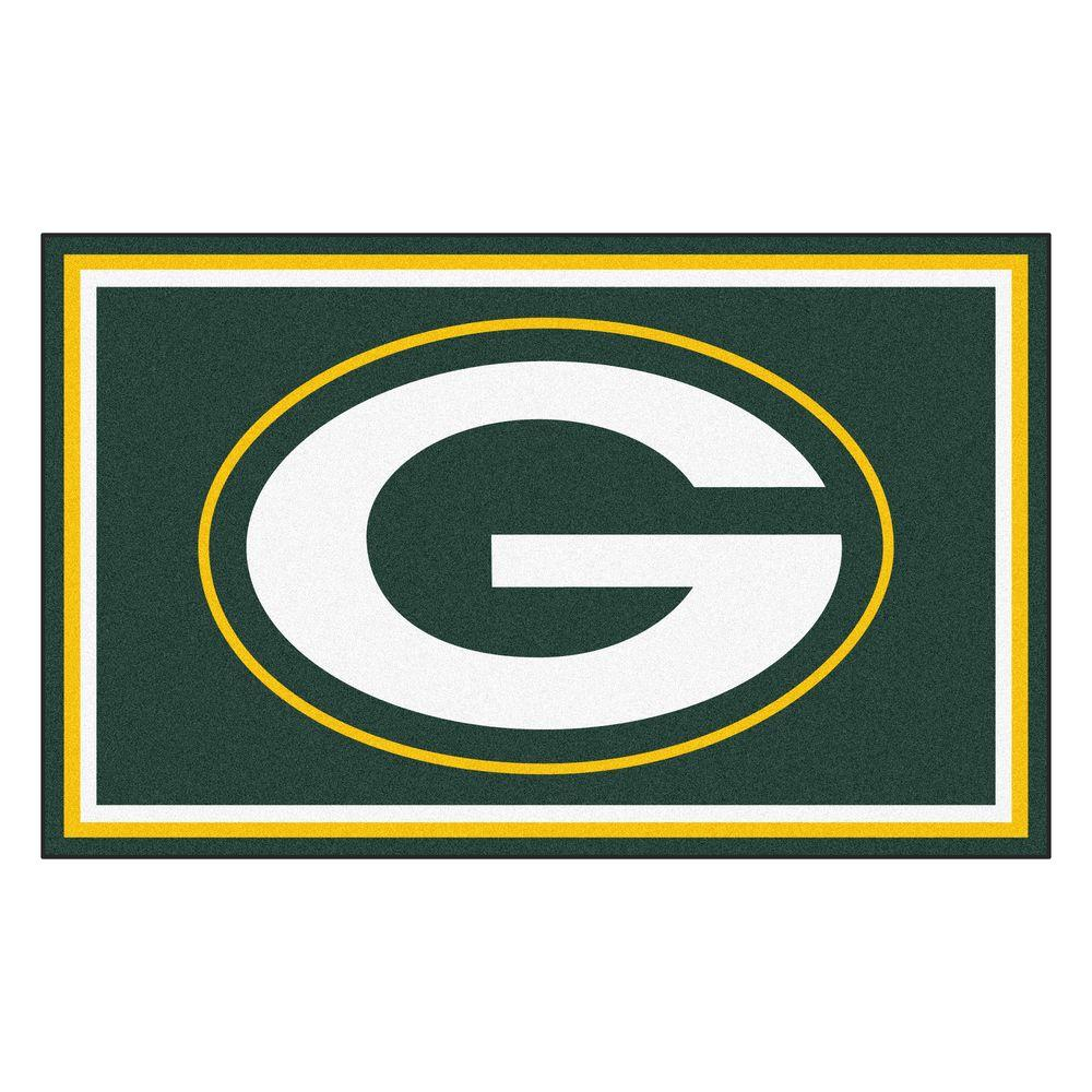 FANMATS Green Bay Packers 4 ft. x 6 ft. Area Rug