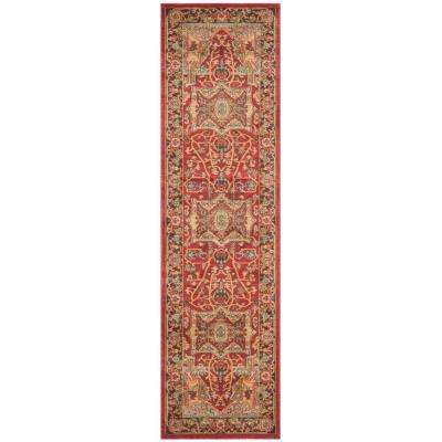 Mahal Natural/Navy 2 ft. x 18 ft. Runner Rug