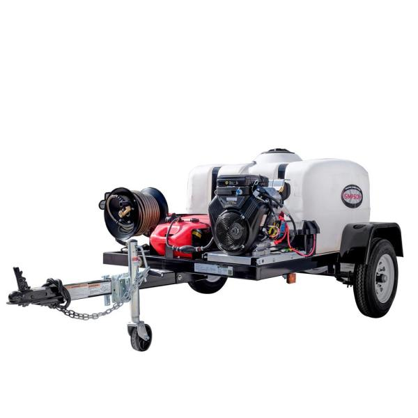 95004 4200 PSI at 4.0 GPM VANGUARD V-Twin Cold Water Pressure Washer Trailer