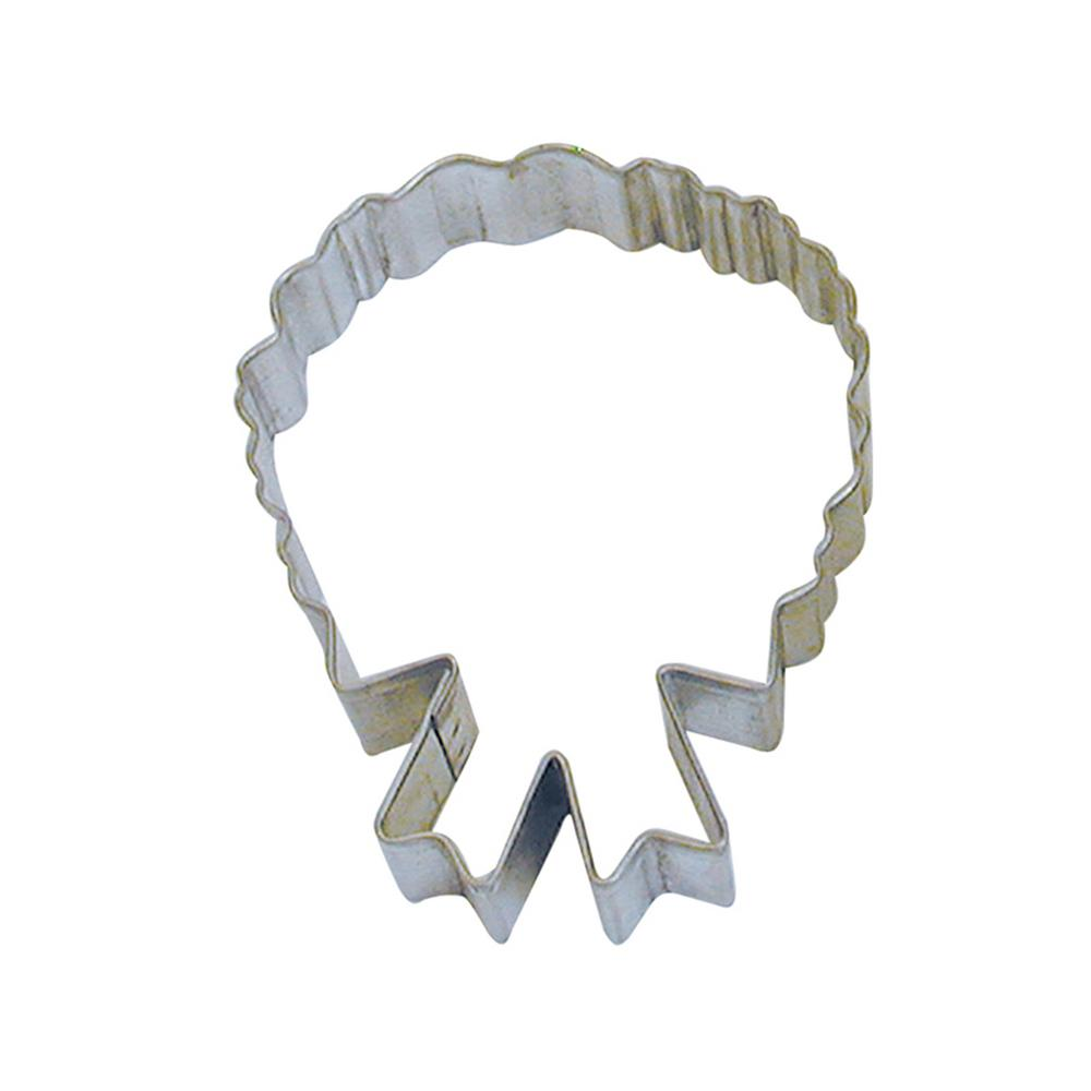 12-Piece 4 in. C'Mas Wreath Tinplated Steel Cookie Cutter and Recipe