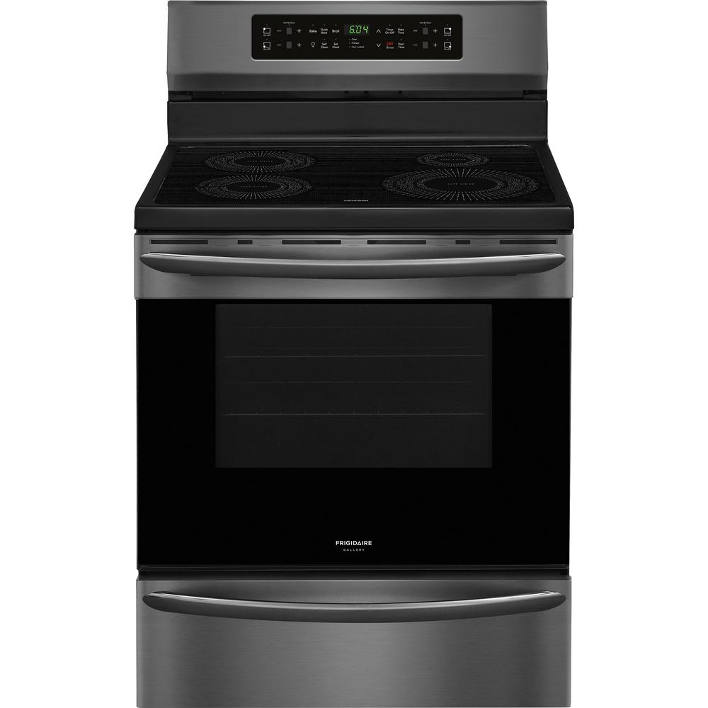 Frigidaire Gallery 30 in. 5.4 cu. ft. Induction Range with Self-Cleaning Oven in Smudge-Proof Black Stainless Steel