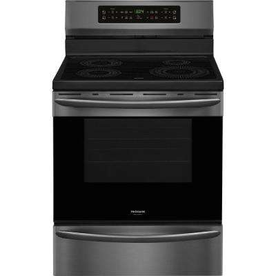 30 in. 5.4 cu. ft. Induction Range with Self-Cleaning Oven in Smudge-Proof Black Stainless Steel