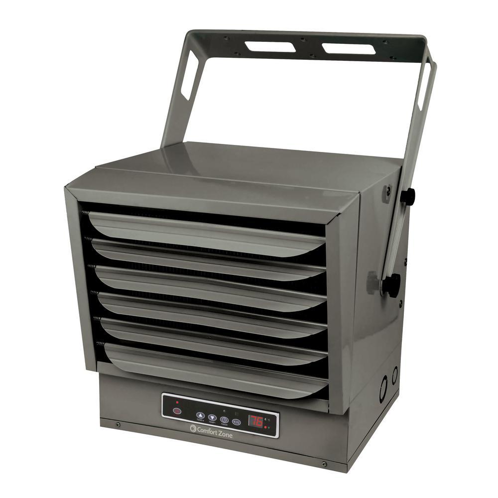 10,000-Watt 34,122 BTU Ceiling-Mounted High-Output Fan-Forced Industrial Fan Heater Furnace with Remote Control