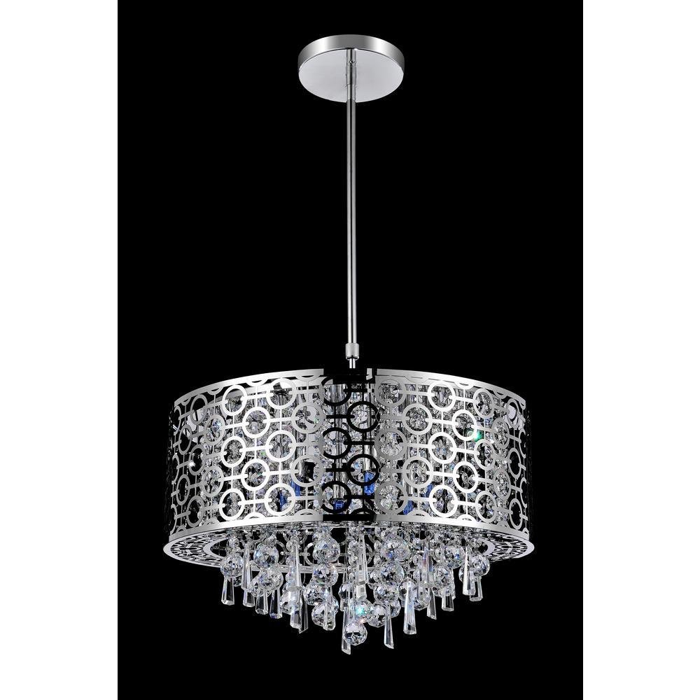 Galant 5-light chrome chandelier