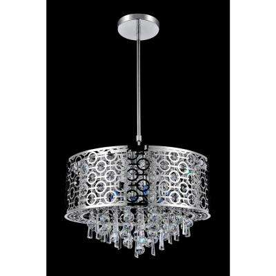 Galant 5-light chrome chandelier