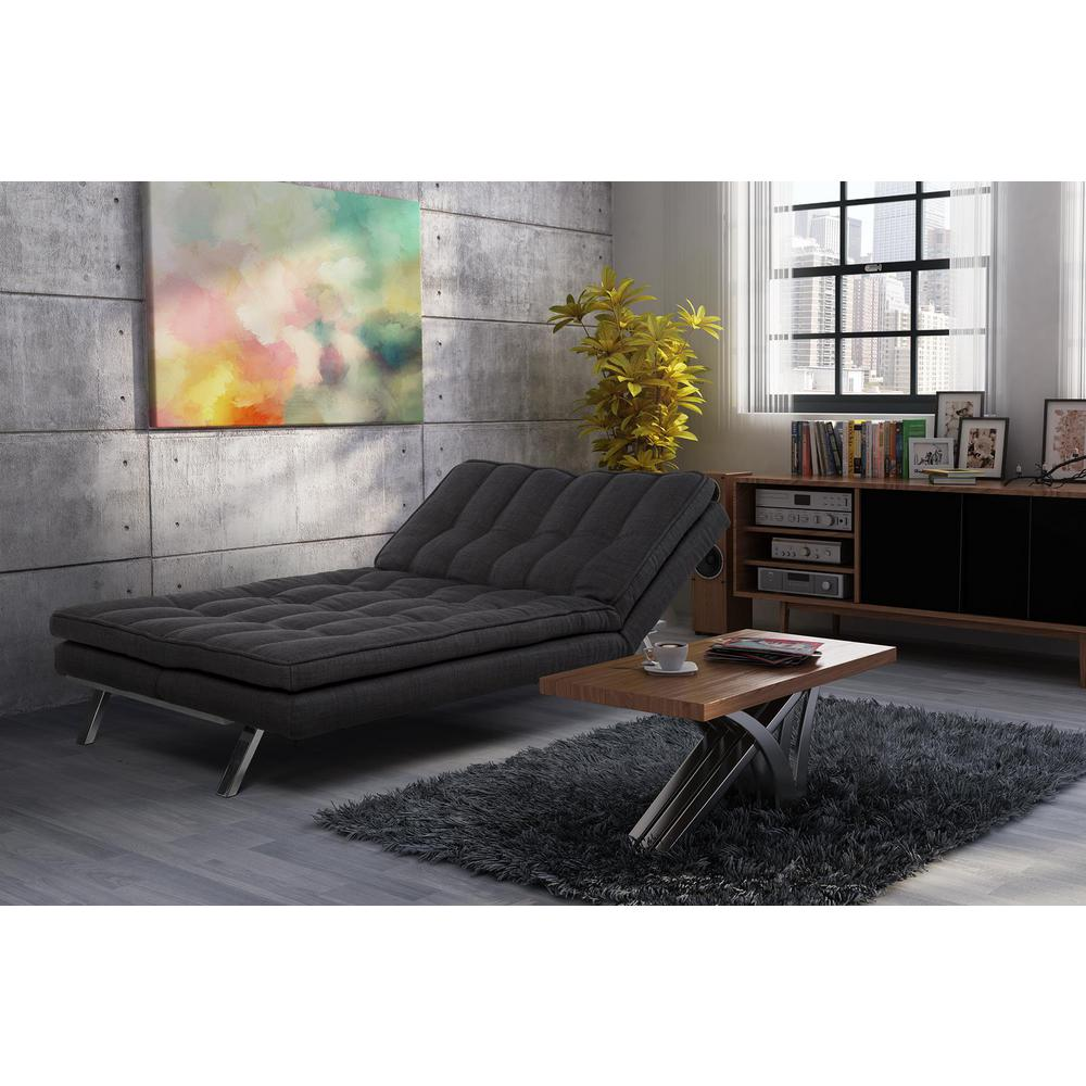 dhp madison dark gray futon dhp madison dark gray futon 2084427   the home depot  rh   homedepot