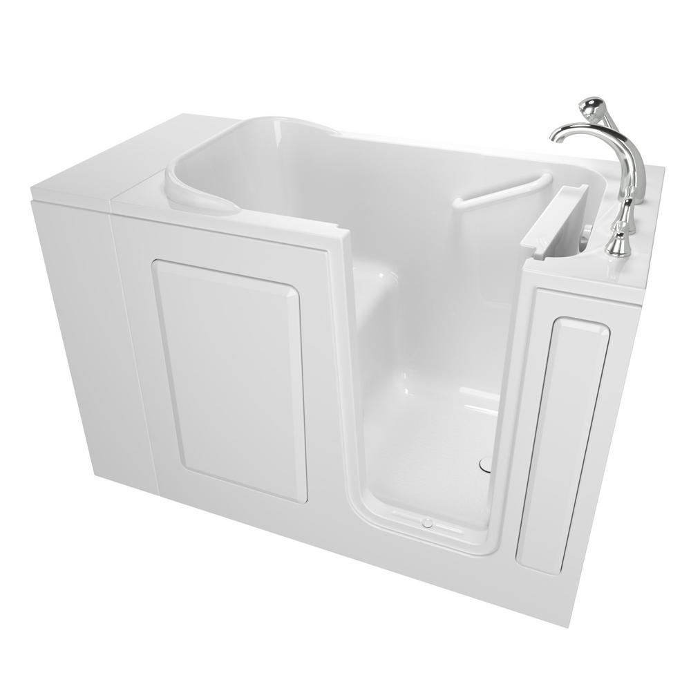 Value Series 48 in. x 28 in. Walk-In Soaking Tub in White