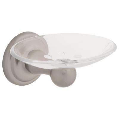 Jamestown Wall-Mounted Soap Dish in Brushed Nickel