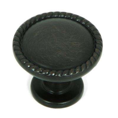 Newport 1-1/4 in. Oil Rubbed Bronze Round Cabinet Knob (10-Pack)