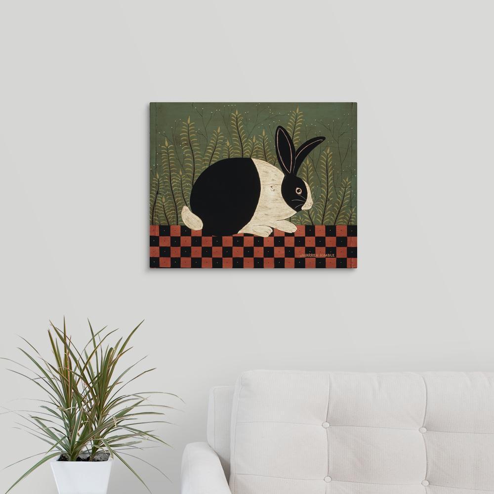 greatbigcanvas checkerboard bunny by warren kimble canvas wall art